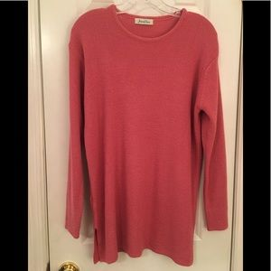 Vintage Coral Tunic Top Sweater M